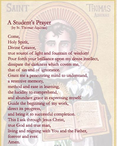 "SJW Version of ""A Student's Prayer"" by St. Thomas Aquinas"