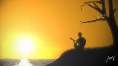 sunset_guitarist_by_arvydasv-d5u0m9d