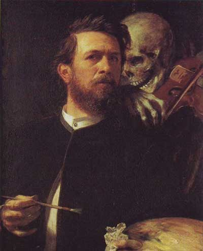 "On the Greatness of Arnold Bocklin's ""Self Portrait With Death"""
